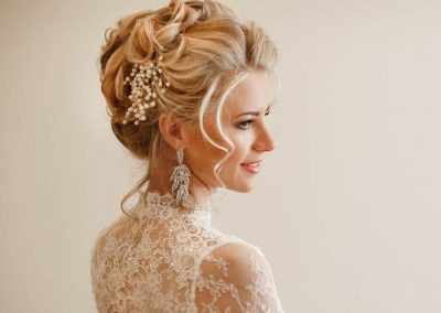 Beautiful hair up for wedding